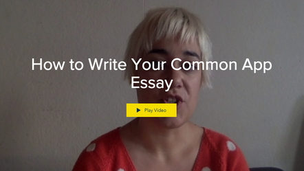 How to Write Your Common App Essay