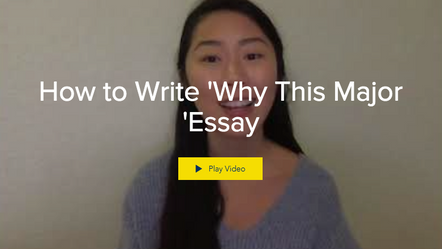 How to Write 'Why This Major 'Essay