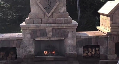 Outdoor Fireplace, Kitchen, Pizza Oven, and Paver Patio