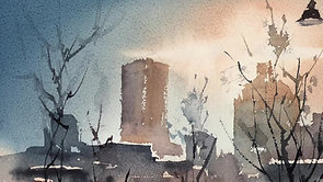 #31 Montreal Downtown (Watercolor Cityscape Tutorial)