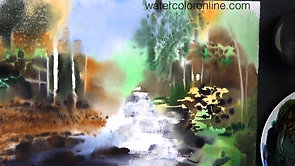 Forest Rapids (Watercolor Landscape)