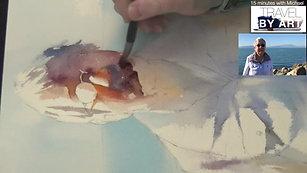 #134 Travel By Art, Ep. 9_ Soft Portrait in San Francisco Bay, CA USA (Watercolor Portrait Tutorial)