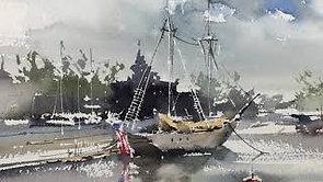 #18 Harbor (Watercolor Seascape Tutorial)