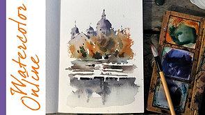 #112 Outdoor Sketching: Collège Sainte-Anne, Lachine, QC (Plein Air Watercolor Cityscape Tutorial)