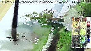 #6 Walk in the Parc des Saules, Lachine (Watercolor Landscape Tutorial)