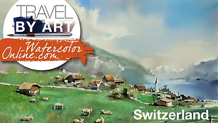 #141 Travel By Art, Ep. 16: Alpine Meadows in Switzerland