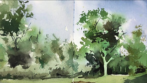#84 Green Trees (Watercolor Landscape Tutorial)