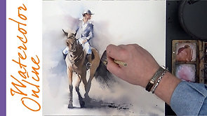 Horseman (Watercolor Figure in Motion_Animal)
