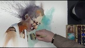 Fast Portrait Watercolor Demo