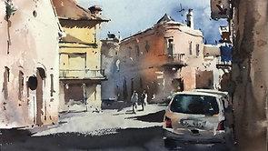 Fabriano, Italy (Watercolor Cityscape)