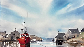 View with Red Boat