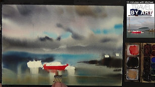 #133 Travel By Art, Ep. 8_ Ships in Bar Harbor, Maine, USA (Watercolor Seascape Tutorial)