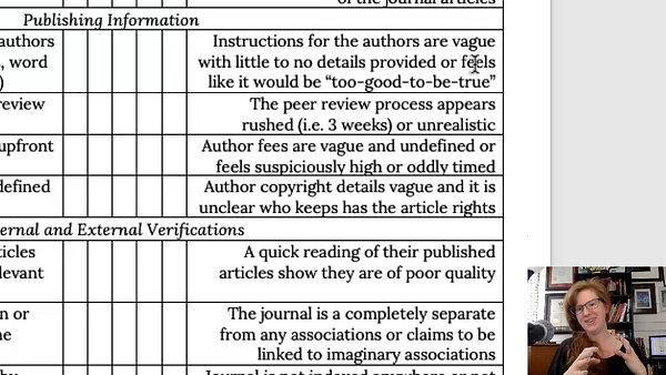 Journal Health Checklist eModule