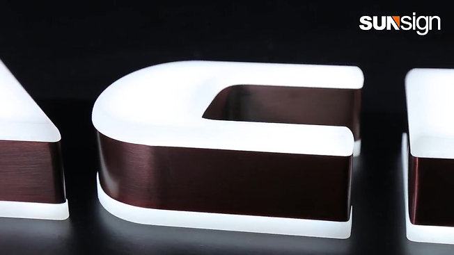 Double side lighted letters