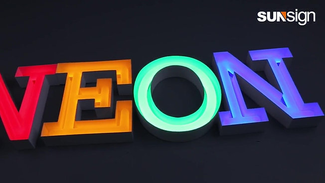 acrylic neon led letters