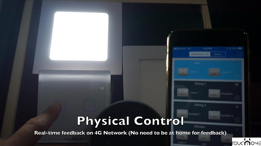 ToucHome Physical Switch Control