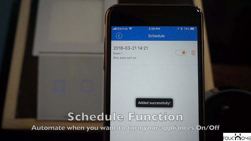 ToucHome Schedule Function