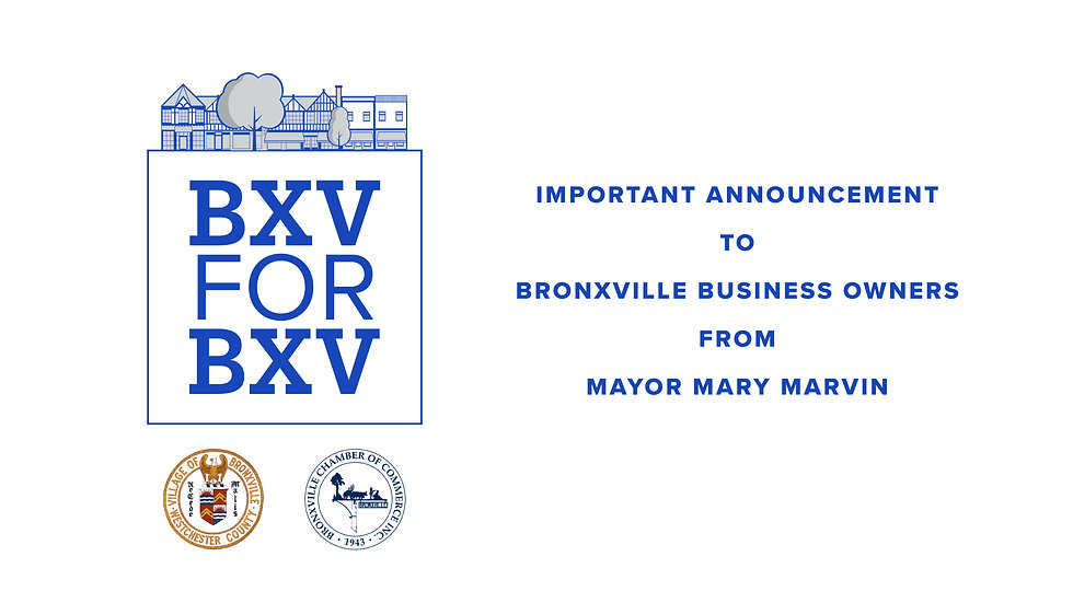 Mayor Mary Marvin Announcement to Bronxville Business Owners