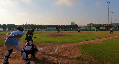 Clara Rice hitting a Home Run!