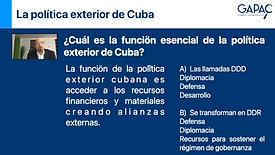 La política exterior de Cuba