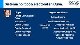 Sistema político y electoral en Cuba