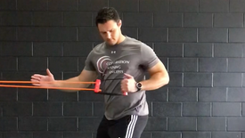 Standing 1 arm row with rotation