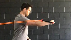 1/2 Kneel Chest Press with band