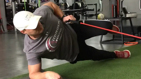 Side Plank Row With Knee Drive