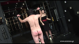 Misbehaving slave get punished.