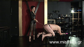 Severe caning and ballbusting