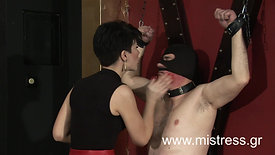 No mercy for this stupid slave transformed to ashtray