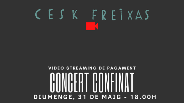 CONCERT CONFINAT - VIDEO STREAMING