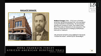 Dora Franklin Finley African American Heritage Trail of Mobile