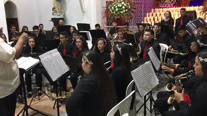 """Interpretación:  """"Poeta de Aldeano"""". Banda Sinfónica Musicales Carol.  Director el Maestro Reynaldo Gamboa"""