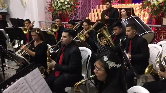 """Interpretación:  """"Hacia el Calvario"""". Banda Sinfónica Musicales Carol.  Director el Maestro Reynaldo Gamboa"""