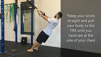 TRX Tuesday - TRX Row