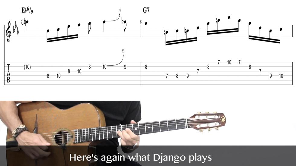Seul Ce Soir - Complete Study of Django Reinhardt Solo (1942)