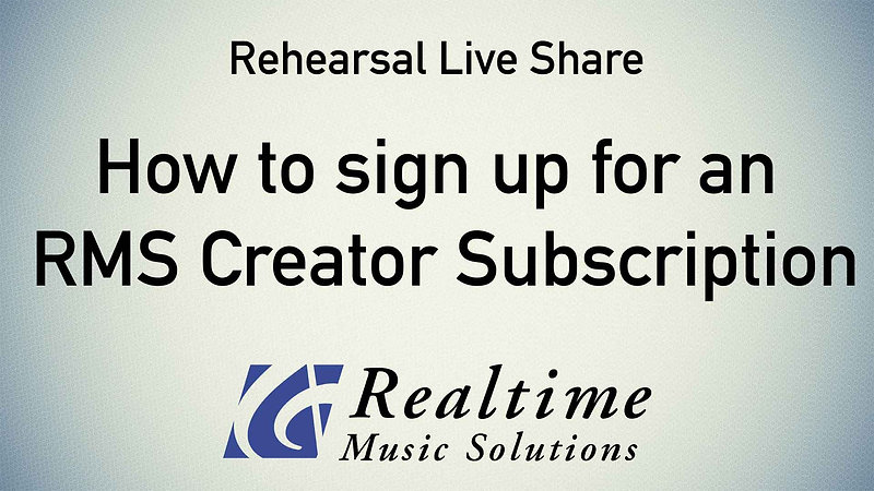 How To Sign Up For RMS Creator