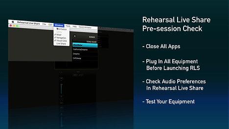Pre-session Check: Quick Tips