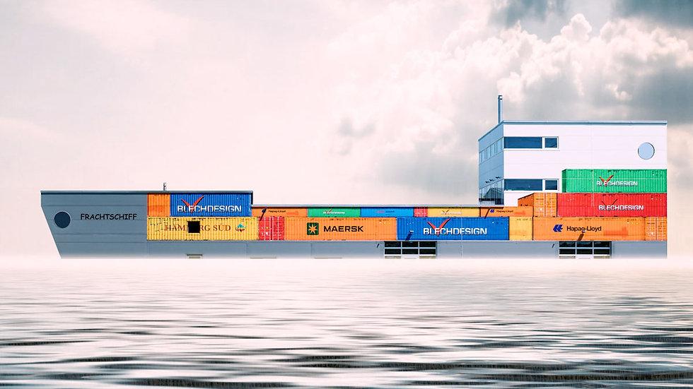 Logo Lyss Frachtschiff 4k