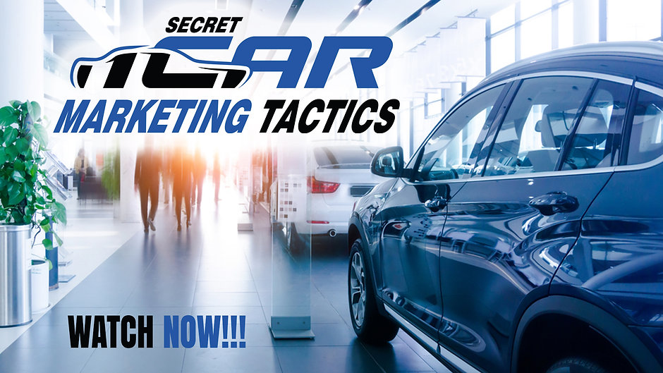 Secret Car Marketing Tactics