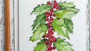 Holly Berries Painting