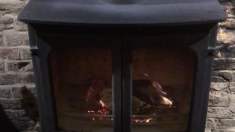 Cosy fires in pubs, restaurants + cafes