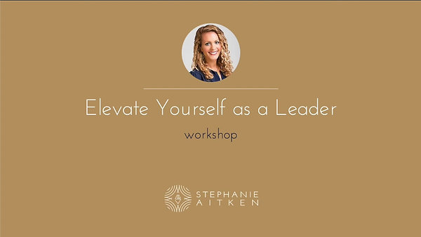 Elevate Yourself as a Leader Webinar