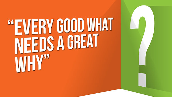 Every Good What Needs a GREAT WHY
