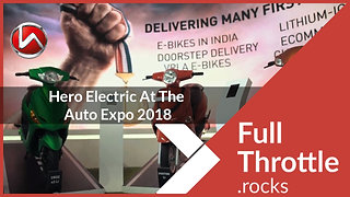 Hero Electric At The Auto Expo 2018 - Sample