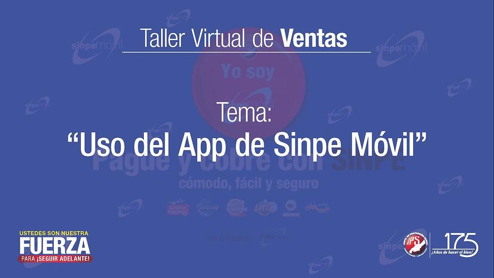 Uso del App de Sinpe Móvil