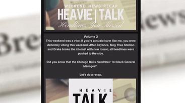 Official site for HeavieTalk Weekend Recaps🗞