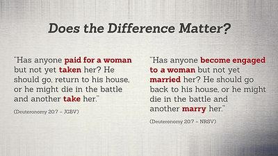 Terminology ~ Take vs Marry