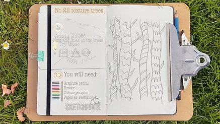 No 17 texture tree drawing